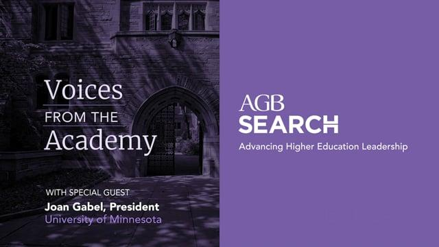 Voices from the Academy: President Joan Gabel, University of Minnesota