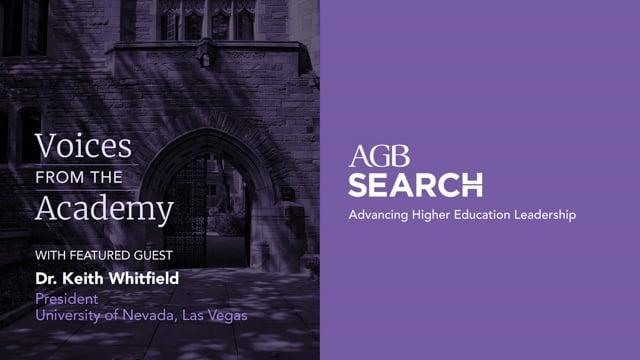 President Keith Whitfield, University of Nevada, Las Vegas